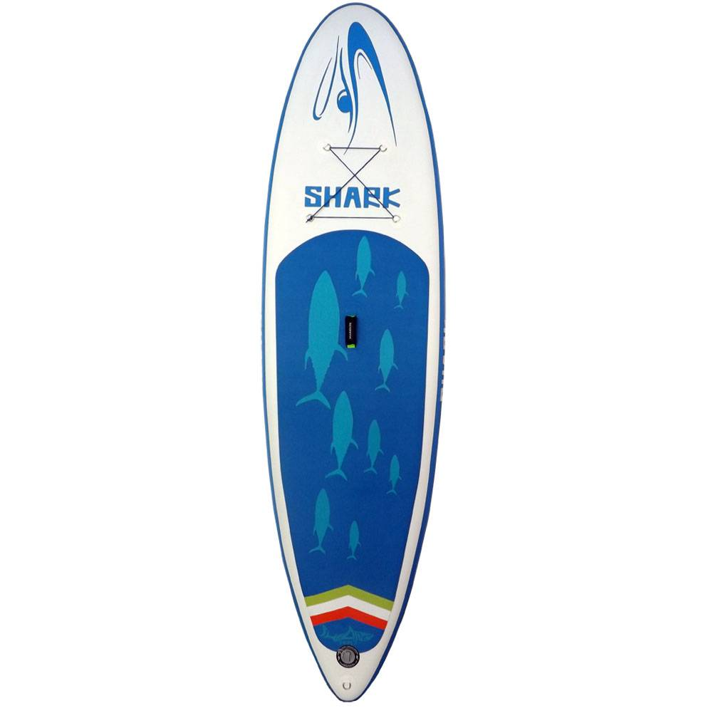 Shark SUPs 11FT Stand UP Paddle Board (6''Thick) with Pump and 3 Piece Adjustable Travel Paddle