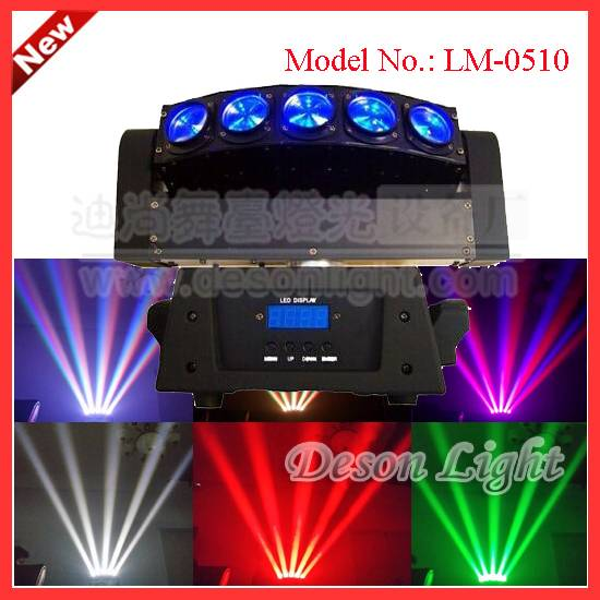 5pcs 10W cree led RGBW 4IN1 or white beam spider sh moving head light LM-0510