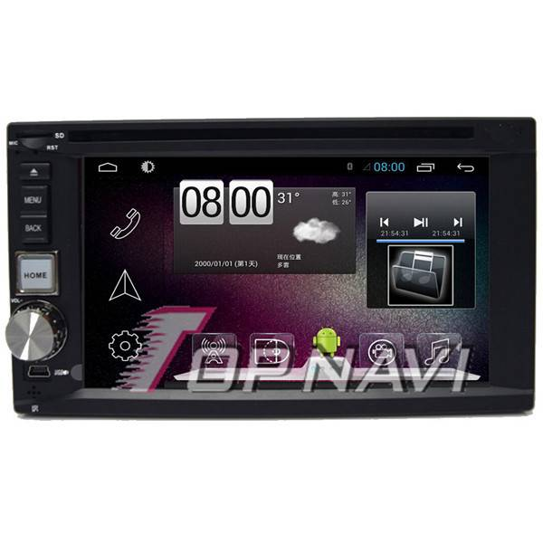 800*480 6.2inch Android 4.4 Car DVD Player Video For Universal GPS Navigation