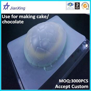 Plastic chocolate egg shape mold tray