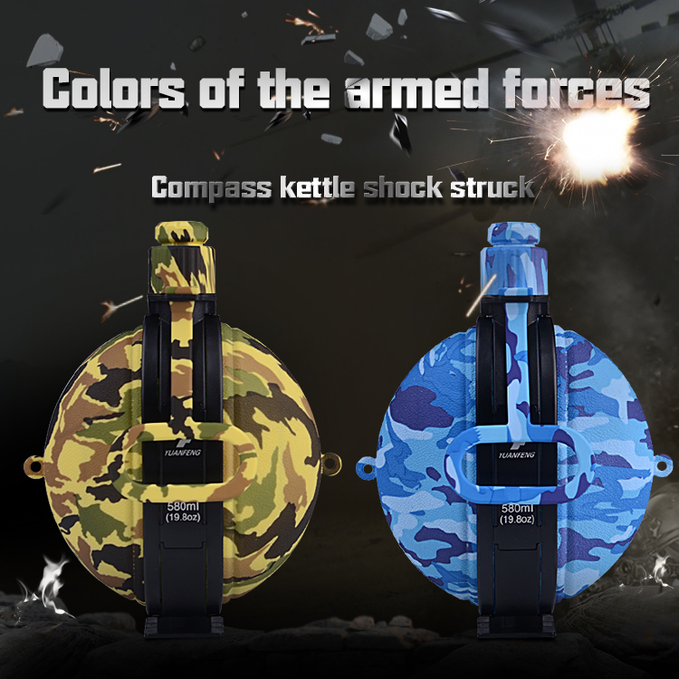 china wholesale silicone army foldable water bottle for outdoors