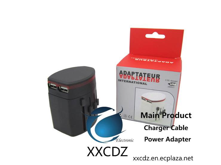 Universal All-In-One World Travel USB Port Multifunction Plug Convertor Adapter