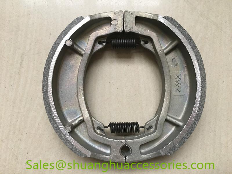RS125 Brake Shoe for Yamaha motorcycle,weightness of 238g.ISO9001:2008