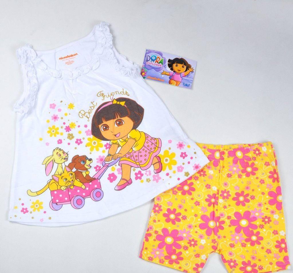 dora children dress , summer girl suit 100% cotton