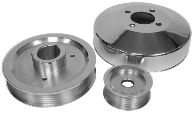 BILLET ALUM.4.6 MUSTANG 96-98 GT & 96-99 COBRA 3-PC PULLEY SET