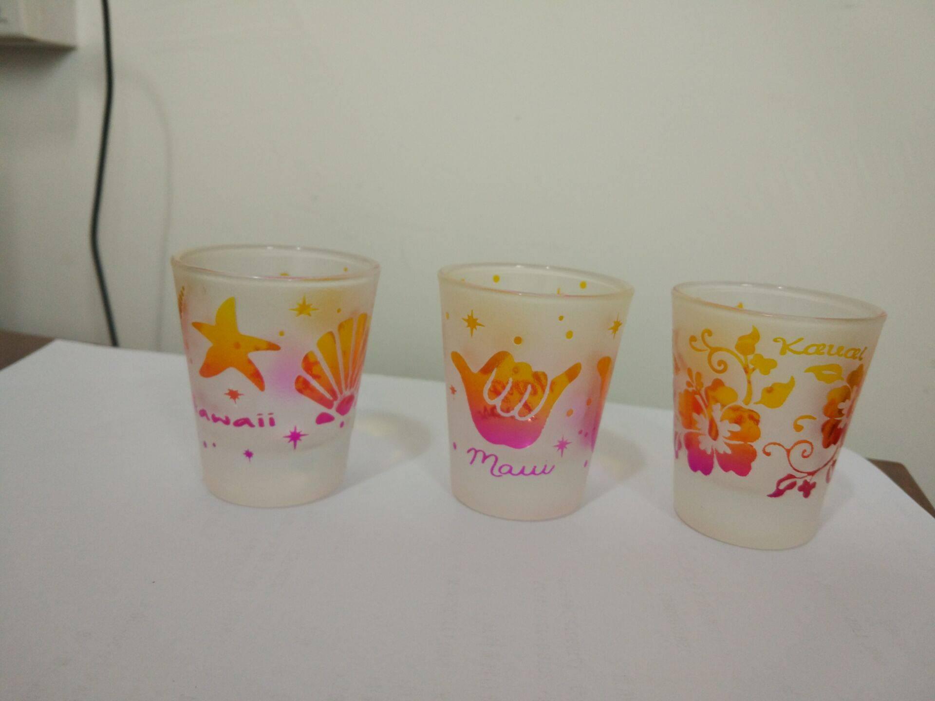 2oz Sandblast shot glass