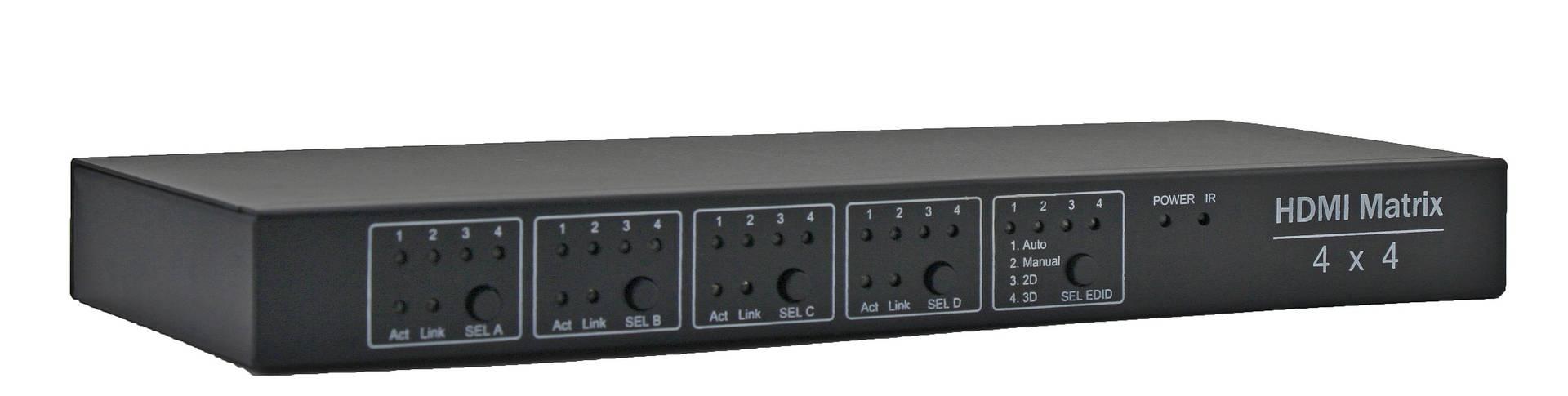 4x4 HDMI matrix , support IR routing