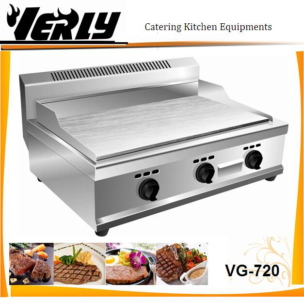 Stainless steel gas griddle/ table top flat plate griddle