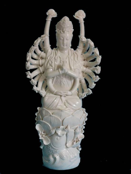 Porcelain buddha figurine