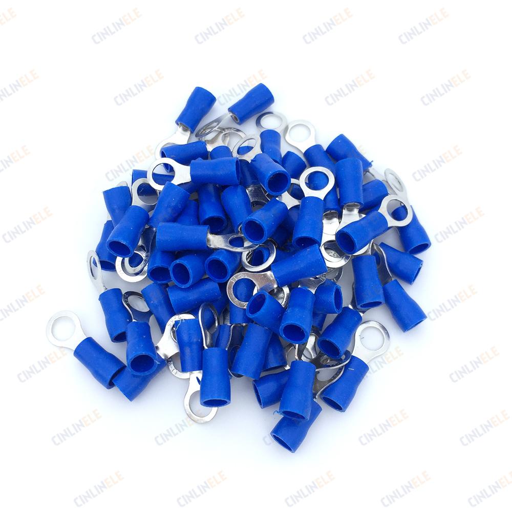 Ring Crimp Insulation Terminal RV1.25-3 RV1.25-4 RV1.25-5 RV1.25-6 RV1.25-8 Wire Cable Connect