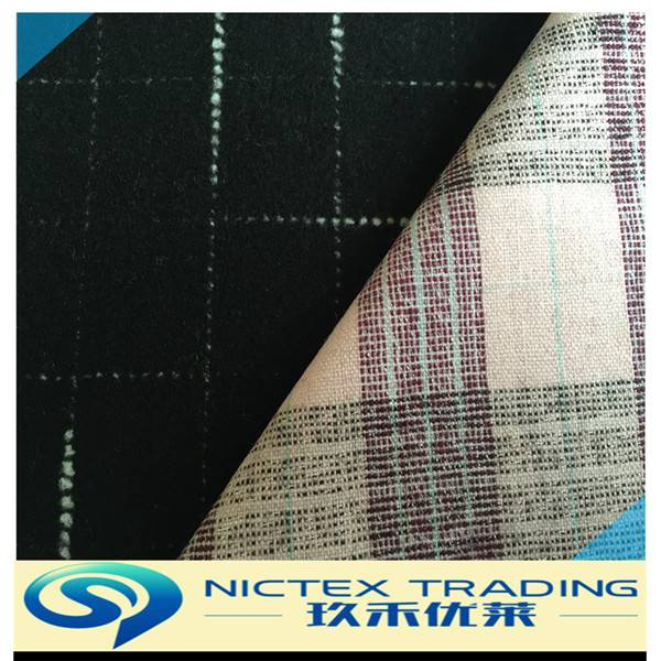 woven tweed heavy wool fabric for coats from China supplier