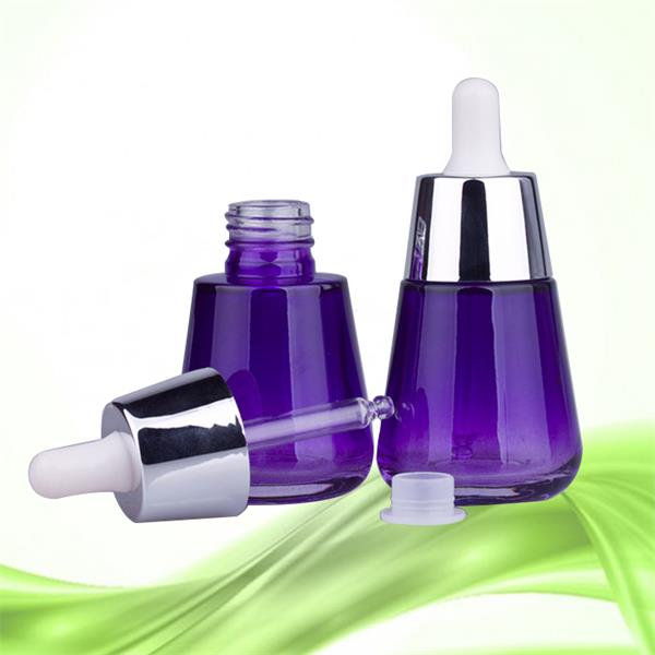 fancy glass dropper cosmetic bottle