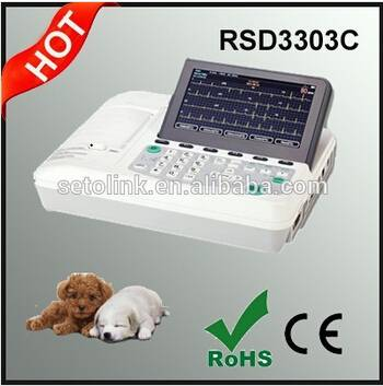3 Channels Large Screen Veterinary ECG Machine for Dogs/Cats/Chickens/Horses/Pigs
