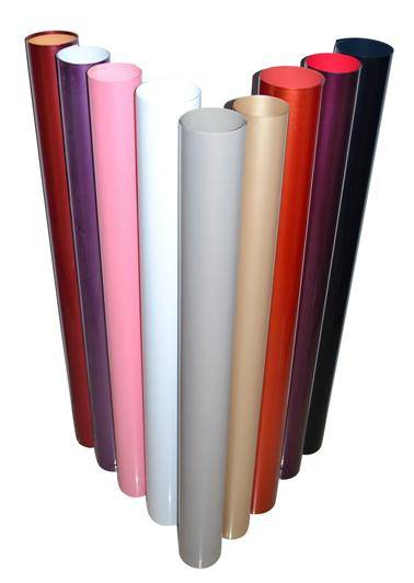 High gloss solid color PVC film for furniture / construction decorative lamination