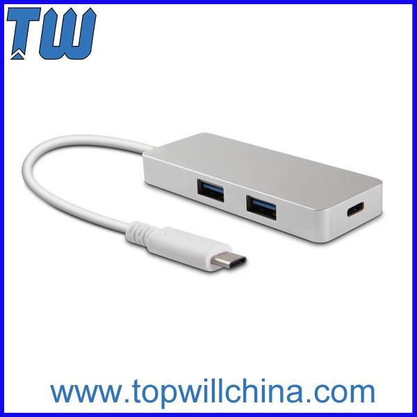 USB-C to 2 ports USB 3.0 and 1 port USB-C HUB Usb Type-C Hub Slim Design