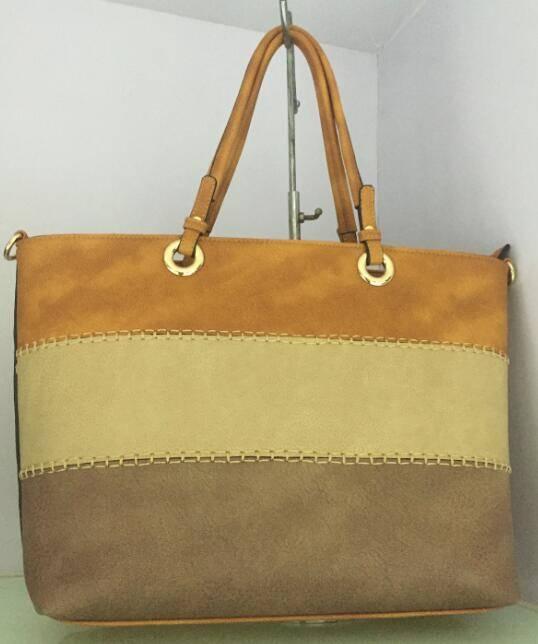 Emilia Johnson triple color tote bag