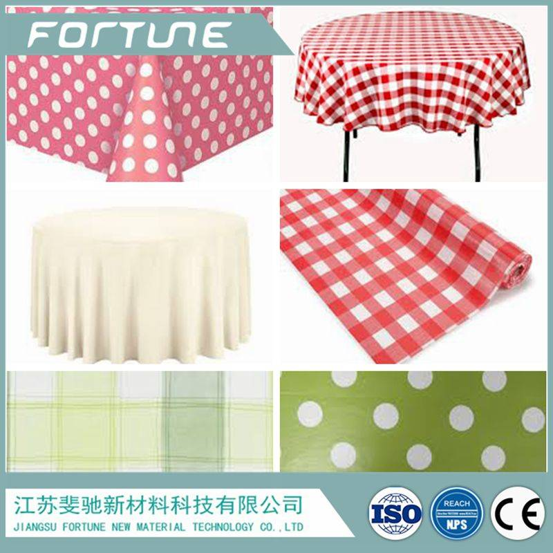 pvc color table cloth wave point stripe or grid for dinner