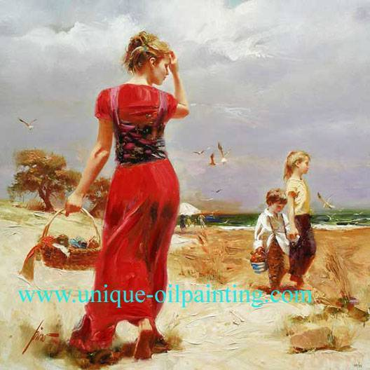 oil painting, impressionism oil painting, 100% handmade oil painting