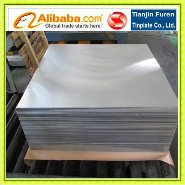 0.18-0.35mm thickness food grade steel for metal cookie cans use tinplae sheet