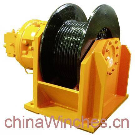 Free fall function lebus grooved drum hydraulic winch