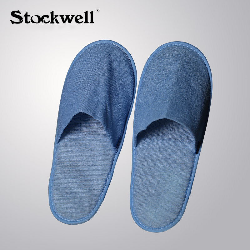 Stockwell Hotel Blue Towel Fabric Aeronautical Slipper