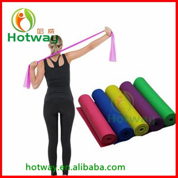 Colorful Crossfit Natural Latex Exercise Resistance Band Pack 1500*150*0.35mm