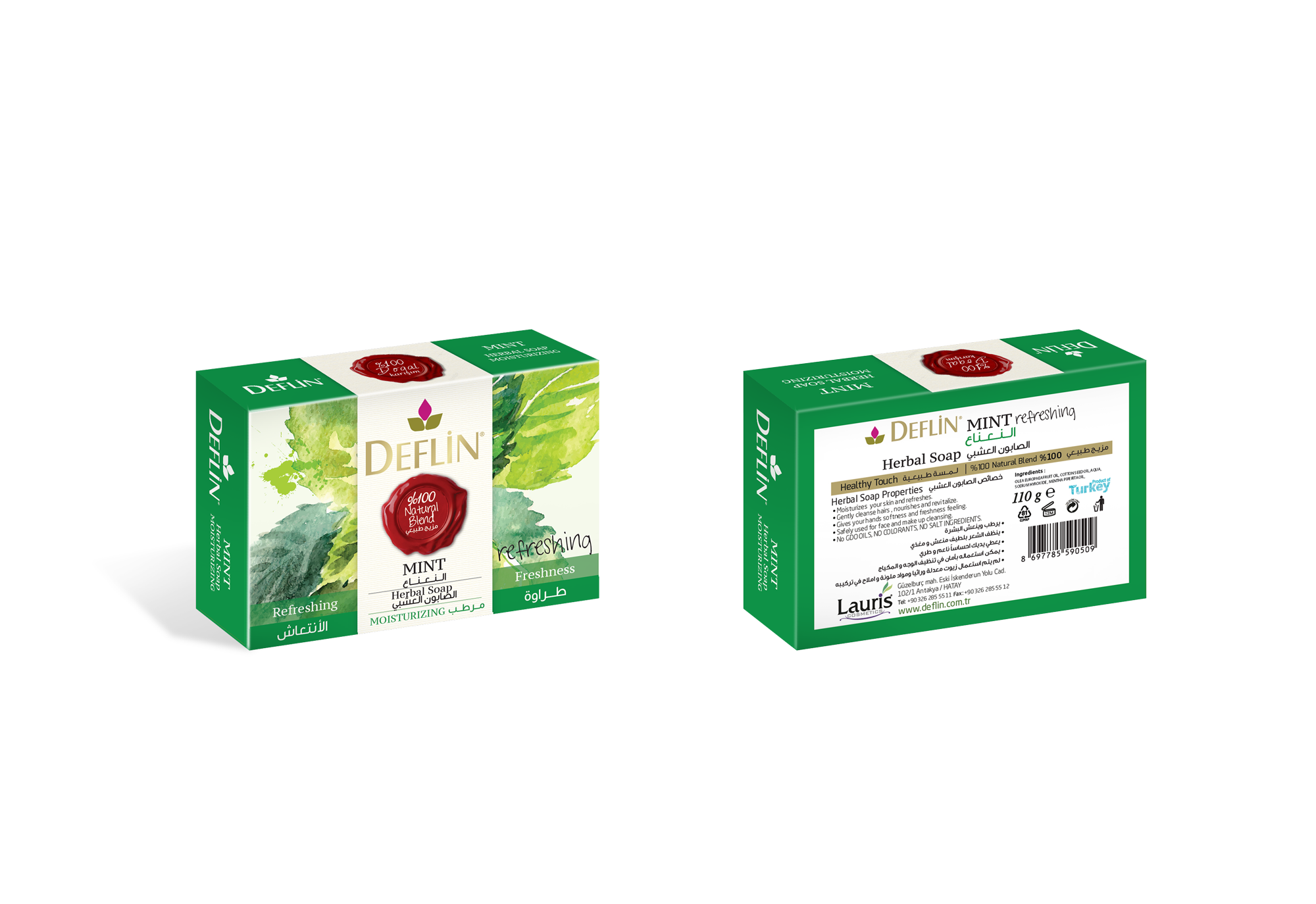 Deflin herbal solid soap MINT
