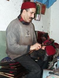Tunisian hand-made cotton Red chechia (tarbouche)