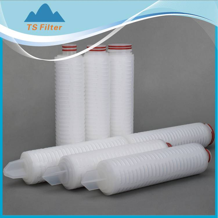 hydrophilic PTFE membrane filter cartridge for strong chemical liquid filtration