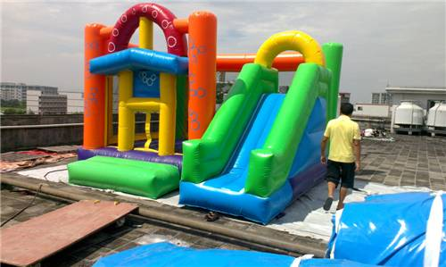 Amusement Park Inflatable Jumping Castle / Airplane Bouncy House with Logo Printing
