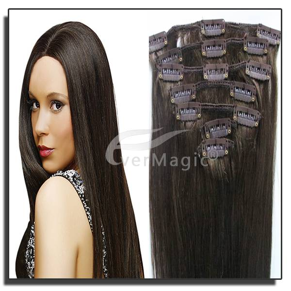 New Products 2014 Clip in Hair Extension /Clip in Human Hair Extensions Remy clip-in Hair Extensions