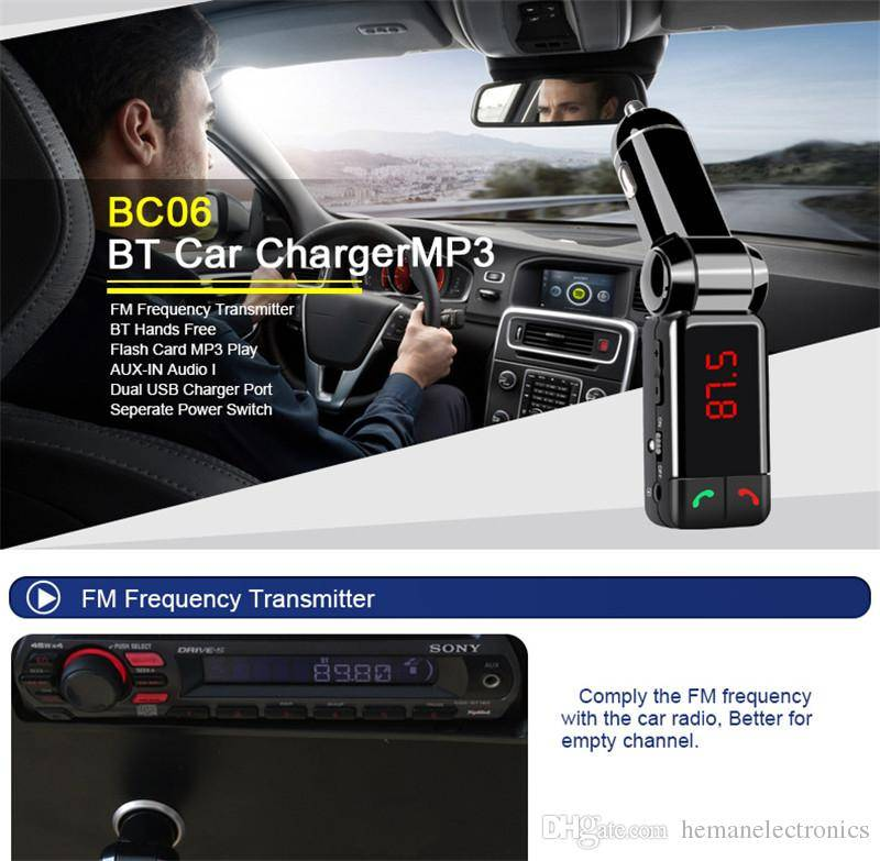Bluetooth Car Kit USB Direct Connect FM Transmitter U Disk Player Stereo Car Charger Bluetooth Hands