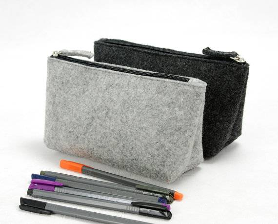 Felt Cosmetic Bags Storage Pouch Cosmetic Case Promotion Bags
