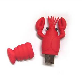 Lobster design red PVC USB flash drive