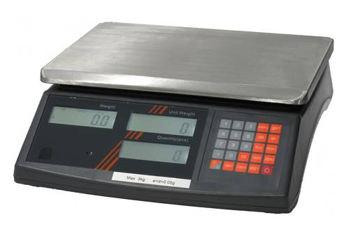 High accuracy dual counting scale