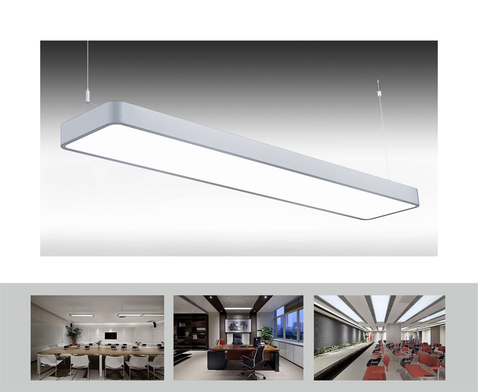 Uispair Modern Office 8W Steel Base Aluminium Alloy LED Hanging Lamp Pendant Lamp