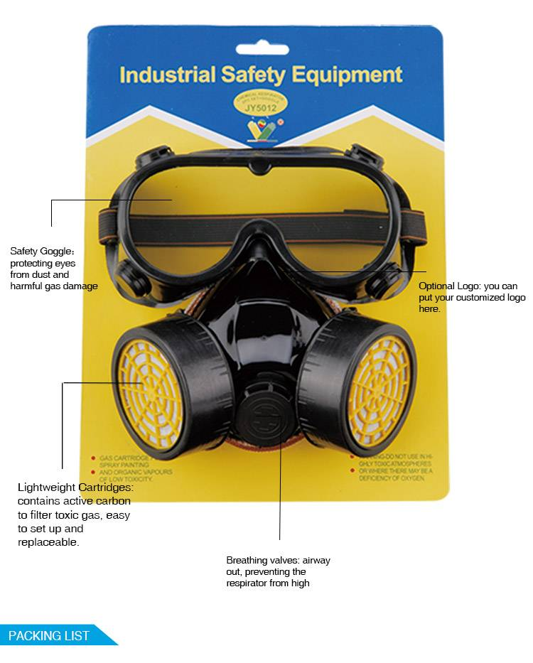 chemical respirator with goggle