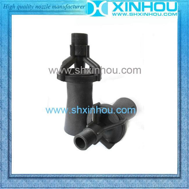 Mixing flow eductor venturi spray nozzle