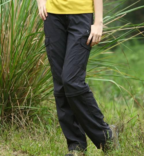 Outdoor fashion women quick dry detachable pant