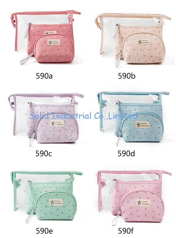 Fashion Cosmetic Waterproof Neceser Portable Make Up Bag Women PVC Pouch Travel Toiletry Bag Blosa