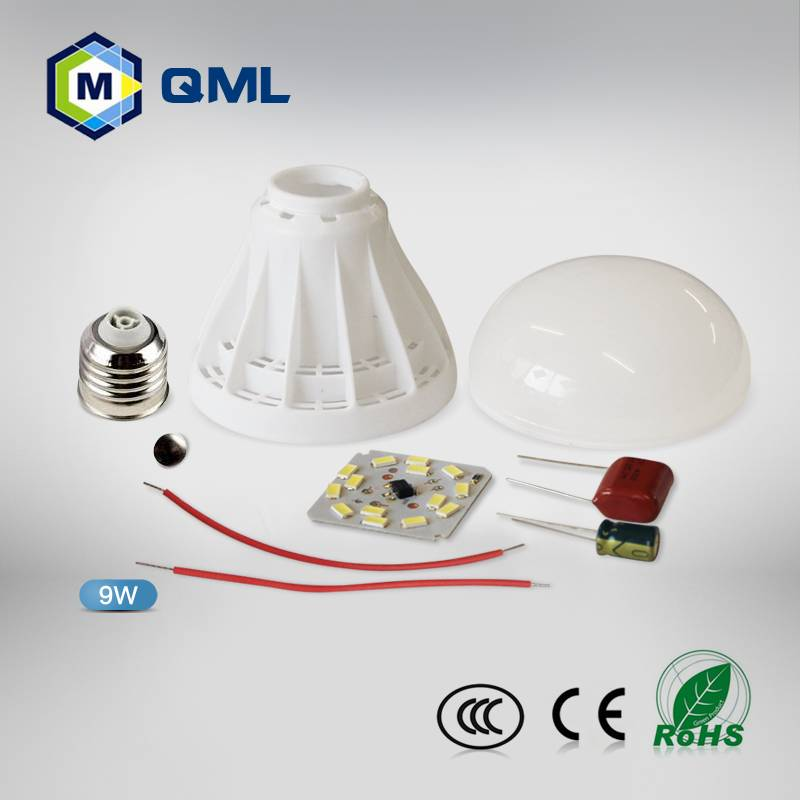 Factory wholesale led bulbs parts 3w 5w 7w 9w 12w