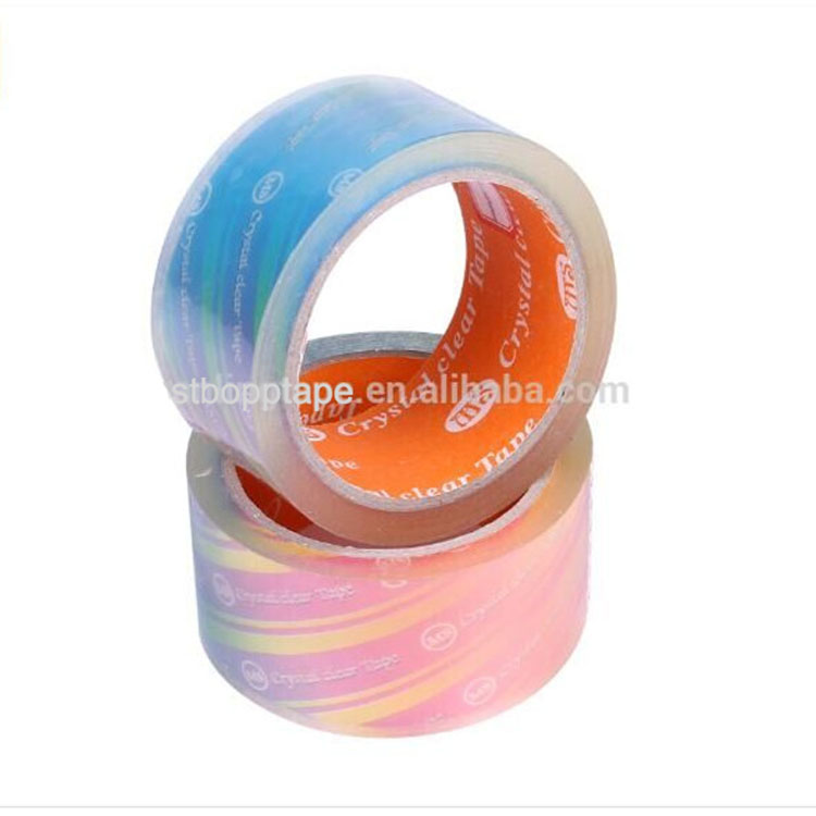 Hot sales transparent carton sealing packing bopp super crystal clear tape