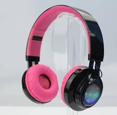 LED light wireless Bluetooth stereo headphones LK-BH014