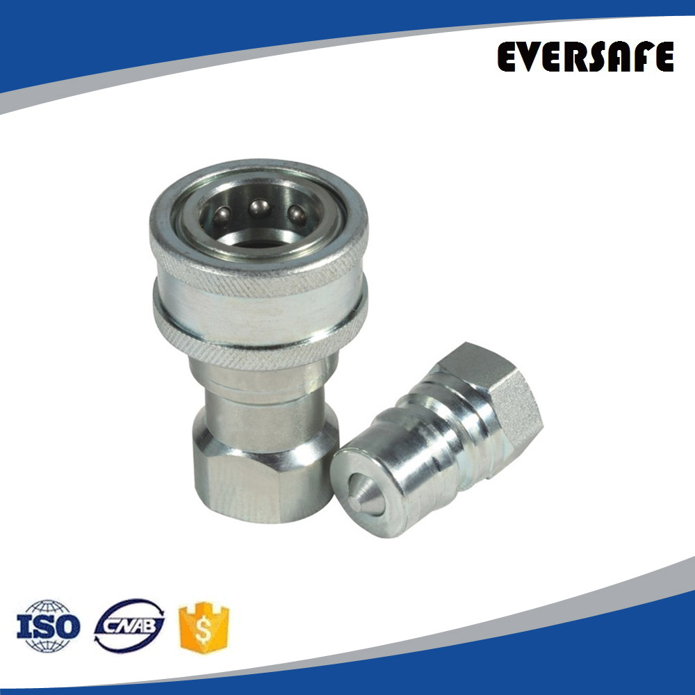 Hydraulic Quick Disconnect Coupling, Steel, ISO-7241-1-B