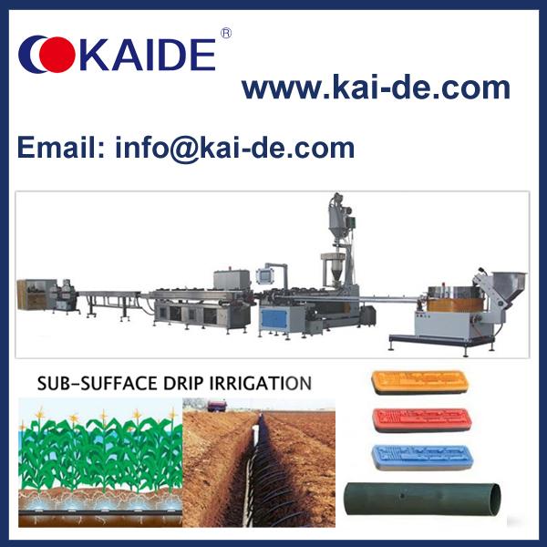Subsurface inline flat drip irrigation pipe making machine