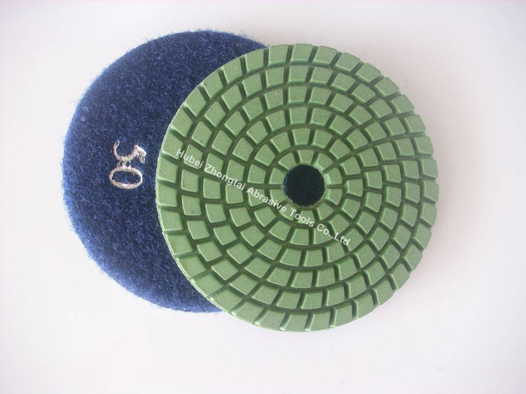 Diamond tools wet polishing pads for concrete, granite, marble with anger grinder