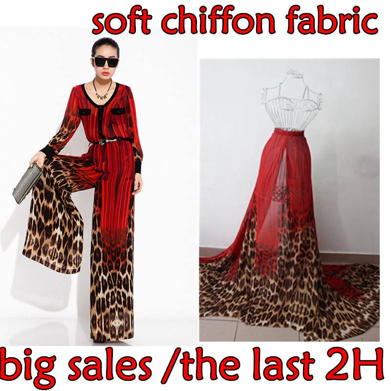 Hot Sale New Arrival Red Locate the leopard print fabric and textiles