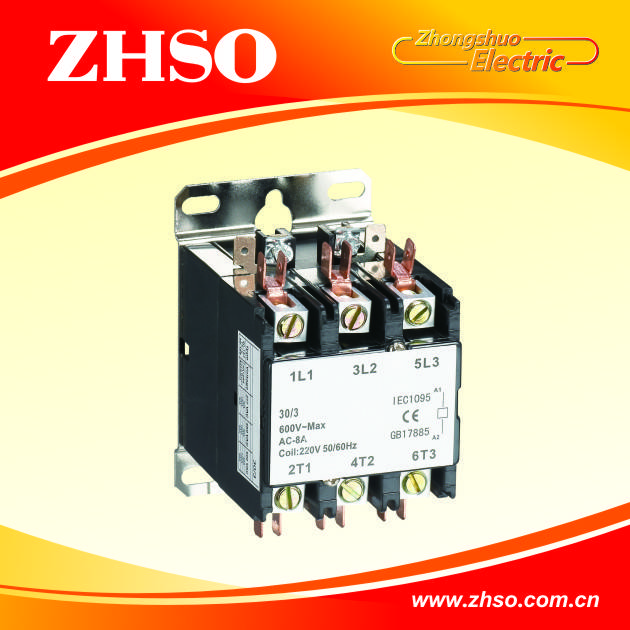 CJX9 1P definite purpose contactor for air conditioner contactor