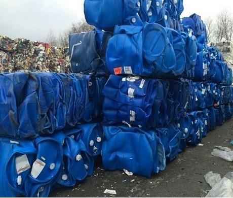 Hdpe blue drum scraps, HDPE drum scrap, HDPE bales, Blue regrind HDPE