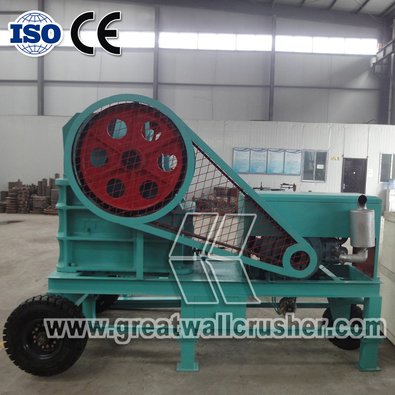small portable diesel crusher PCC4060 for 12 t/h crushing plant